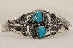 2 Stone Turquoise Leaf Bracelet - BR4109