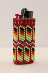 Beaded Mini Bic Lighter Case - LC709
