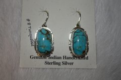 Number 8 Mine Turquoise Earrings - N8044