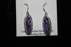Charoite Earrings - CH221