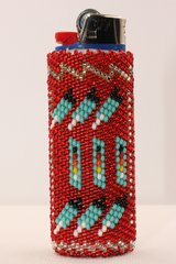 Beaded Bic Lighter Case - LC1142