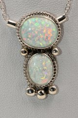 2 Stone Opal Necklace - N2744
