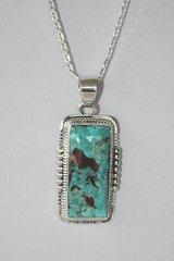 Battle Mountain Blue Gem Turquoise Pendant - P6720