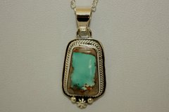 Boulder Turquoise Pendant - BL423