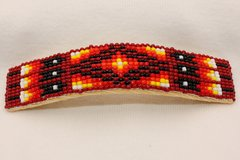 Large 4 Inch Beaded Hair Barrette - HC850