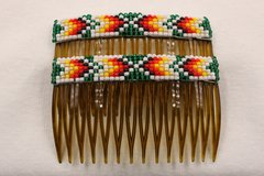 Set of 2 Beaded Haircombs - HC850