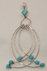 6 Loop Sleeping Beauty Turquoise Pendant - P1361
