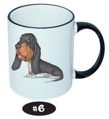 Basset Hound Black Ceramic Mug 11oz