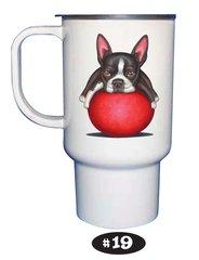 Boston Terrier Travel Mug 15 oz