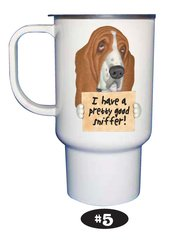 Basset Hound Travel Mug 15 oz