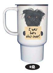 Affenpinscher Travel Mug with Lid 15 oz