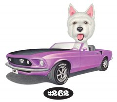 "West Highland Terrier in a Mustang Print - 8.5"" x 11"""
