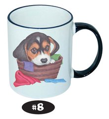 Beagle in a Basket Ceramic Mug 11 oz