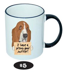 Basset Hound Brown Ceramic Mug 11 oz