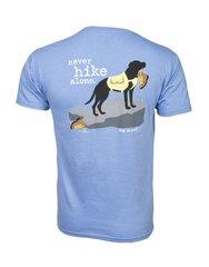 T-Shirt: Never Hike Alone, Men's/Unisex