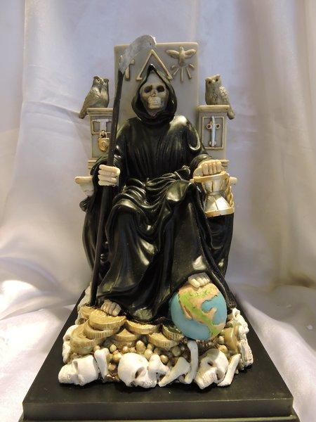 Santa Muerte Sentada  - Holy Death Siting Down