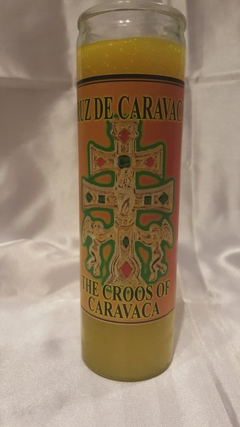 Cruz De Caravaca veladora amarilla - The Croos of caravaca candle yellow