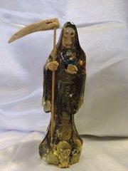 Santa Muerte Negra Transparente - Clear Black Holy Death