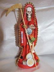 Santa Muerte Vesitida De Rojo - Holy Death With Red Dress