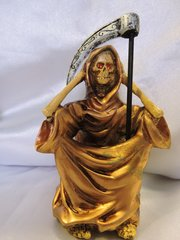 Santa Muerte Bronce No Escuchar - Bronze Holy Death Heaar No Evil