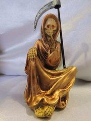 Santa Muerte Bronce No Hablar - Bronze Holy Death Speak No Evil