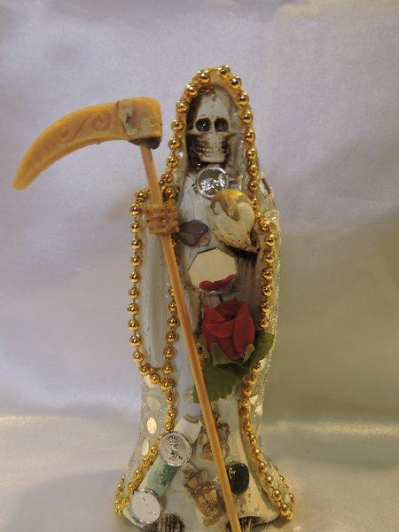 Santa Muerte Vetida De Blanco - White Dress Holy Death