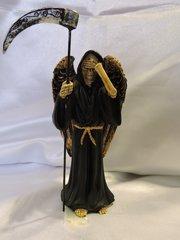 Santa Muerte Negra No Ver Con Alas - Black Holy Death See No  Evil With Wings