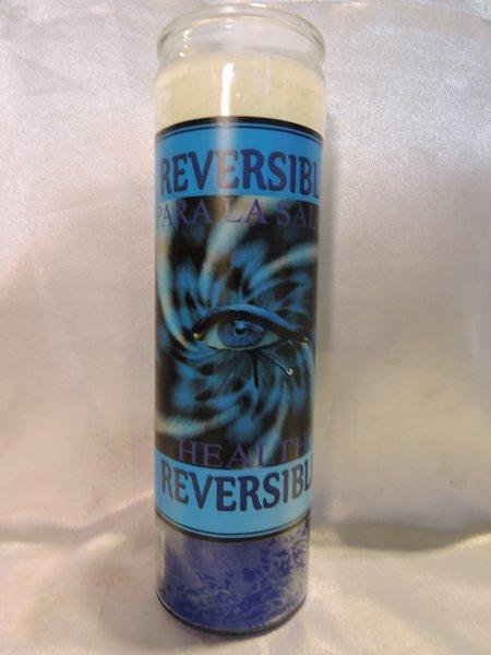 Reversible Veladora Azul/blanco
