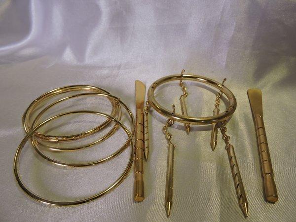Aldones, Pulseras & Remos De Oshun - Aldones, Bracelets & Rowing Paddles For Oshun