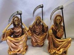 Santa Muerte Bronce No Ver, No Hablar, & No Escuchar - Bronze Holy Death See No Evil, Hear No Evil, & Speak No Evil