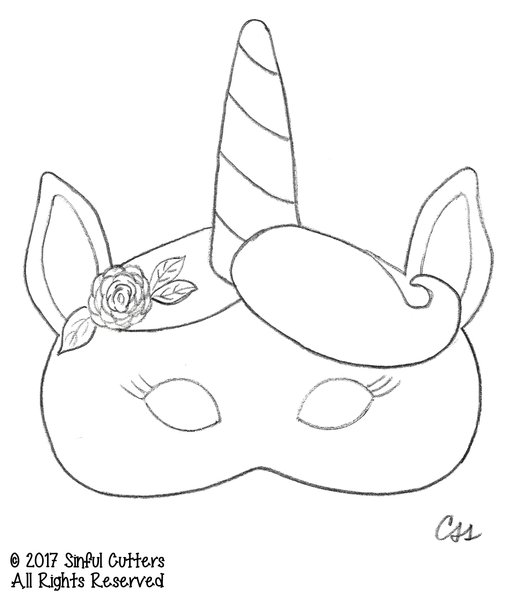 It is a picture of Current Unicorn Mask Printable