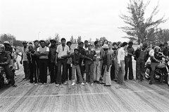 Charles Hashim: Motorcycle drag race, Opa-locka, circa 1979