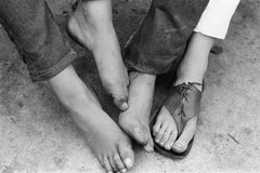 Al Kaplan: Mystery feet and unknown toes, Provincetown  August 1962