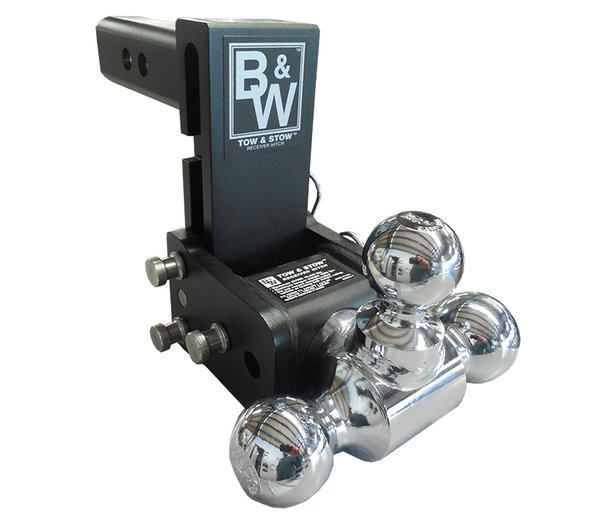 """B&W Tow & Stow Tri-Ball 5"""" Drop Model 8 TS10048B"""