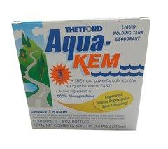 Thetford Aqua-Kem liquid holding tank deodorant, 3 pack (8 ounce bottles)