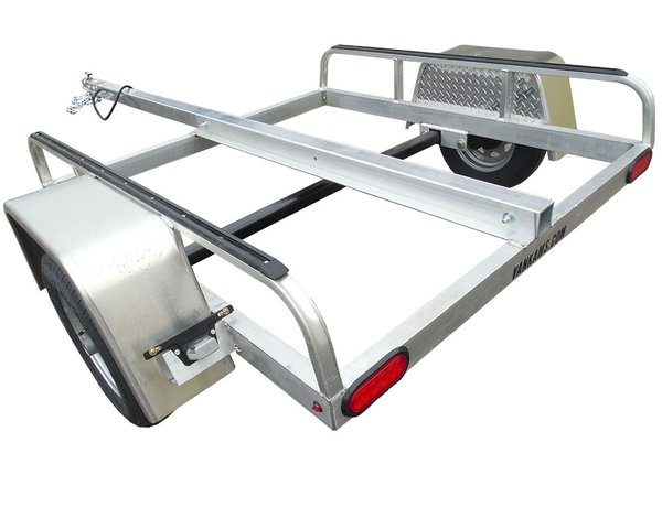 Aluminum ALL SPORT trailer w/ THULE tracks- kayak, bikes, cargo box