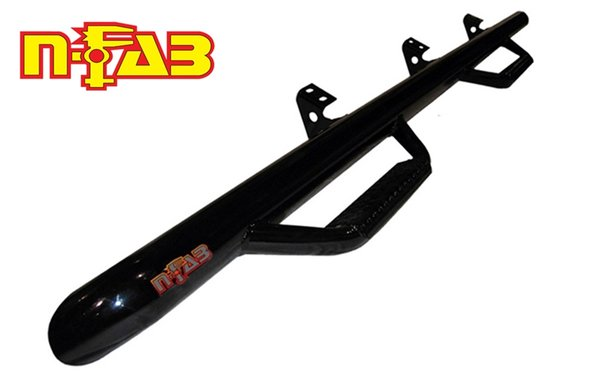 N-FAB Cab Length Hoop Nerf Steps, Gloss 14-15 Chevy / GMC Double Cab C1473QC
