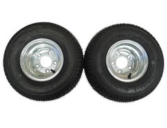 18.5 X 8.5 - 8 (215/60-8) GALVANIZED Snowmobile trailer tire & wheel (1 PAIR)- TRITON, R&R