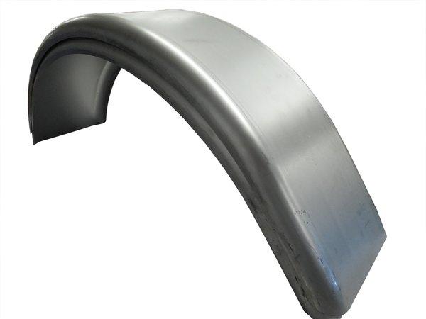 Trailer fenders 7.75 X 28 single axle steel 16 gauge, 1 pair