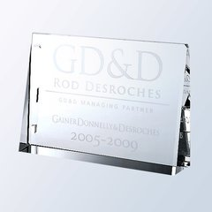 HorIzontal Rectangle Plaque