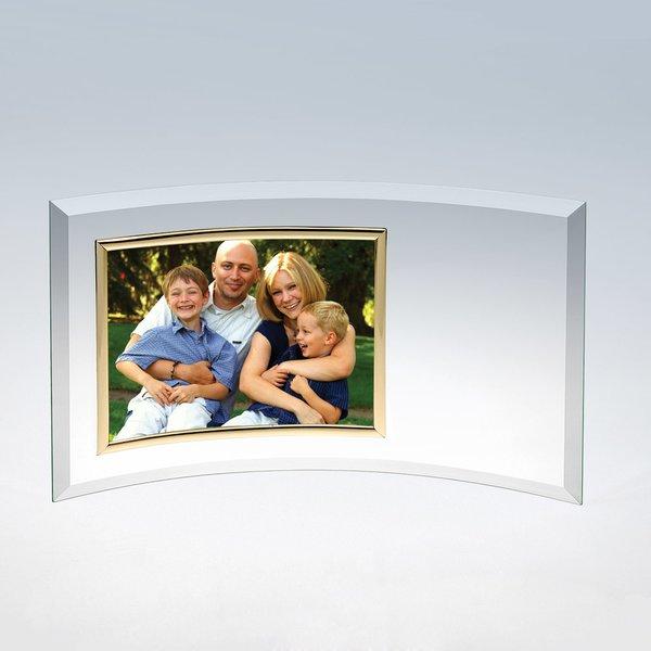 Curved Glass Horizontal Photo Frame