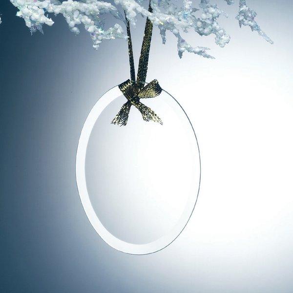 Oval Jade Glass Ornaments