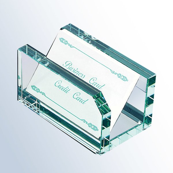 Jade Glass Notepad & Cardholder