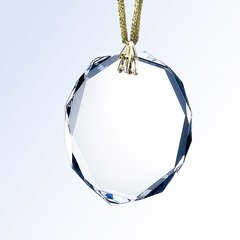 Octagon Optical Crystal Glass Ornaments