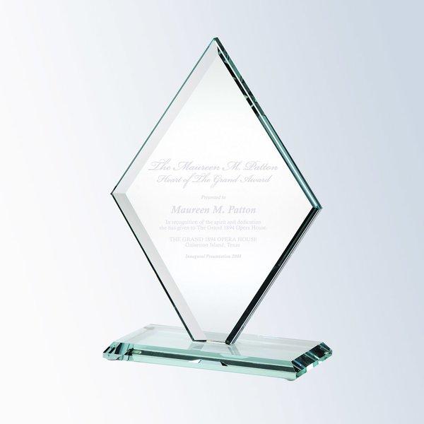 Jade Glass Beveled Diamond