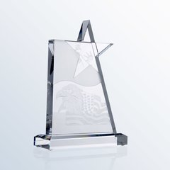 Clear Glass Star Award
