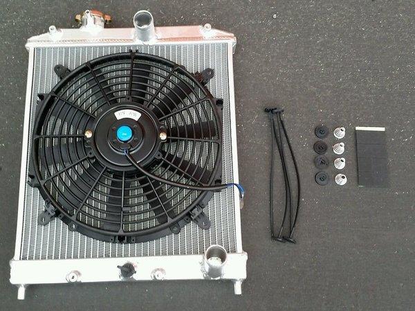 96 00 Honda Civic Ej Ek Em1 2 Row Aluminum Radiator Fan