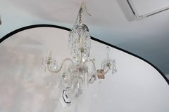 1920's Waterford Style Fantastic! Cut Crystal Five Arm Chandelier