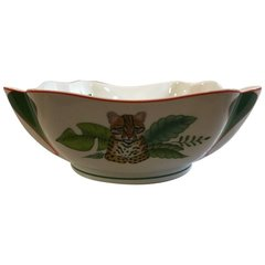 "SOLD - Authentic and Beautiful Lynn Chase ""Rainforest"" Bowl"