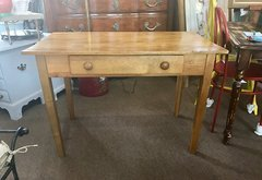 SOLD - Vintage and Fabulous Petite Farm Table or Farm Desk -- French Country Charmer
